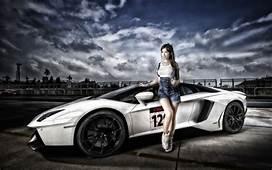 Wallpaper  Women Model Asian Lamborghini Aventador