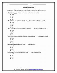 sentence patterns worksheets with answer key pdf 282 13 best teaching conjunctions images on teaching ideas grammar and teaching