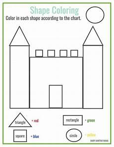 free printable shape coloring printable shape worksheets