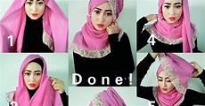 Tutorial Jilbab Segi Empat Gulung Ragam Muslim