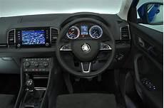 skoda karoq interior sat nav dashboard what car