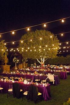gorgeous outdoor wedding love the ideaof a night wedding if its done with the right amount