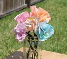 Blume Basteln Kinder - desperate craftwives kid crafted coffee filter flowers