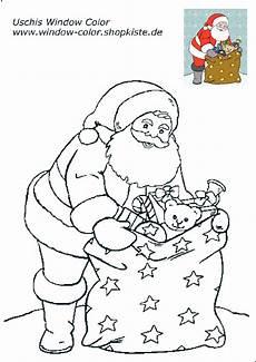 weihnachten vorlagen 2 weihnachtsmann basteln