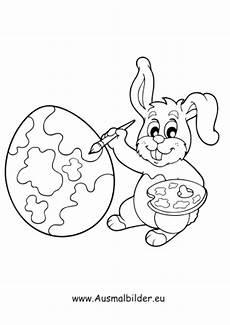 Ausmalbilder Osterhase Mit Eier Ausmalbild Osterhase Malt Ostereier Bunt Kostenlos Ausdrucken