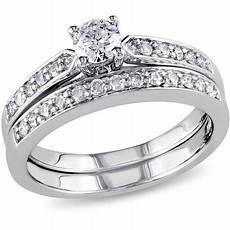 miabella 1 2 carat t w diamond sterling silver bridal ring walmart com