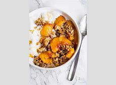 canned peach crisp with oatmeal