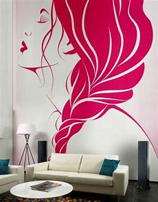 Bedroom Easy Wall Mural Ideas by Living Room Creative Wall Decor Ideas With Pink Murals