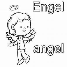 Engel Malvorlagen Zum Ausdrucken Englisch Kostenlose Malvorlage Englisch Lernen Engel Zum