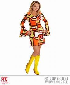 Groovy 70er Jahre Kleid Mit Trompeten 228 Rmel Gr 246 223 E L