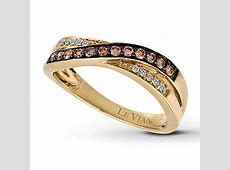 Le Vian Chocolate Diamonds 1/4 ct tw Ring 14K Honey Gold