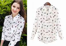bug print blouse 2015 new style fashion unique colourful insect print