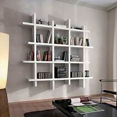 scaffali a parete libreria da parete componibile bianco lucido gilmar