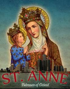st anna ste patroness of the archdiocese of detroit