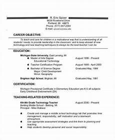 teacher resume exles 26 free word pdf documents