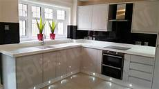 Ideas For Black Kitchen by White Gloss Kitchens Black Worktops Deductour