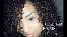 my natural hair routine wash and go youtube