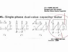 single phase motor wiring diagram with capacitor start untpikapps