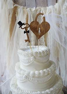 weddings cake toppers rustic wood heart mr and mrs key to