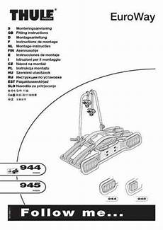 thule euroway 944 car accessories manual for free