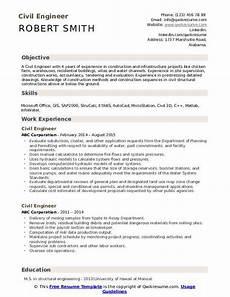 civil engineer resume sles qwikresume