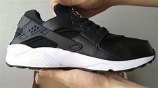 nike air huarache black white shoes