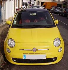 file fiat 500 2007 yellow front view jpg wikimedia commons