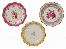 72 Luxury Vintage Style Afternoon Tea Party paper Plates