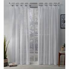 Tab Top Curtains by Exclusive Home Curtains Belgian 50 In W X 96 In L Sheer