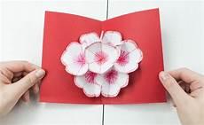 3d bilder basteln 3d pop up blumenkarte basteln sch 246 nes diy geschenk aus