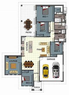 4 bedroom double storey house plans single storey 4 bedroom house floorplan with additional