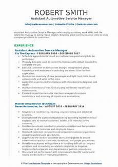 automotive service manager resume sles qwikresume