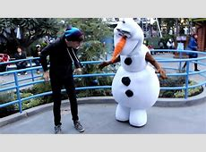 "Olaf from ""Frozen"" meet guests during Frozen Fun event at"
