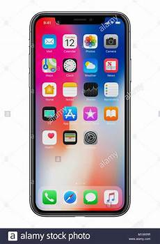 White Background Iphone by New Apple Iphone X 10 Front View On White Background New