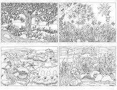 nature scene bug coloring