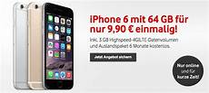 vodafone quot deal quot iphone 6 64gb mit vertrag f 252 r 9 90