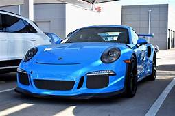 Smurf Blue Porsche GT3 RS That Was In For Service My