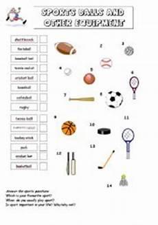 sports equipment worksheets 15781 sporst equipment esl worksheet by kopciuszek