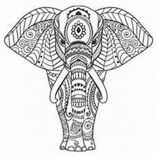 Malvorlage Elefant Mandala Elephant Abstract Doodle Zentangle Paisley Coloring Pages