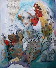 peinture femme moderne tableau contemporain peinture acrylique portrait femme no 235 l techniques mixtes peintures