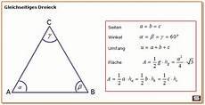 gleichseitiges dreieck formel zu fl 228 chenberechnung und