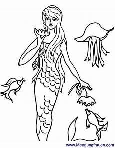 Malvorlagen Mit Meerjungfrauen Ausmalbild Malvorlage Meerjungfrau Mit Seerose Und Qualle