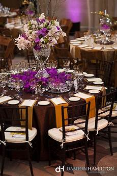 Brown Decorations by Brown And Purple Wedding Tabletop Damion Hamilton