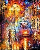Trolley Of The New Year  Palette Knife Oil Painting On