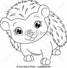 hedgehog coloring page image hedgehog on a white
