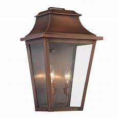 acclaim lighting coventry collection 2 light copper patina outdoor wall lantern 8424cp the