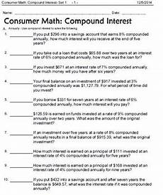 consumer math word problems interest wages shopping