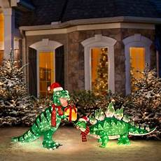 Animated Decorations Outdoor by Our Pre Lit Animated Dinosaur Yard Decorations