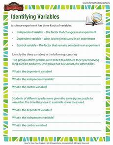 science variable worksheets 5th grade identifying variables learn how to identify variables in
