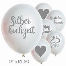 bilder zur silberhochzeit latexballon silberhochzeit 25 jahre silberhochzeit